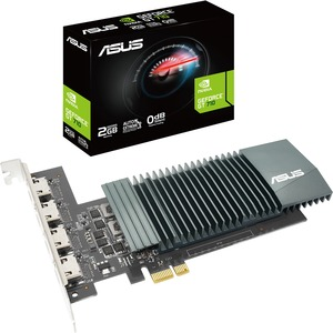 Asus NVIDIA GeForce GT 710 Graphic Card - 2 GB GDDR5 - 954 MHz Core - 64 bit Bus Width - HDMI PCIE 2.0 2GB GDDR5 4X HDMI PORTS
