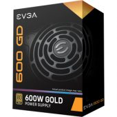 EVGA 600 GD Power Supply - Internal - 120 V AC, 230 V AC Input - 600 W / 3.3 V DC, 5 V DC, 12 V DC, 5 V DC, 12 V DC - 1 +12V Rails - 1 Fan(s) - 92% Efficiency The EVGA GD Series of power supplies builds upon a Solid Gold Foundation. Available in 700W, 600W and 500W, these power supplies are engineered to reach the same level of performance as EVGA's top-end gold units, but at a great value. Featuring 80 Plus Gold certified efficiency and a mainboard Japanese capacitor, the EVGA GD Series is a great choice for those looking for a great quality power supply at a great price.