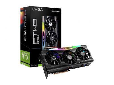 EVGA GeForce RTX 3070 Ti FTW3 ULTRA GAMING Video Card, 08G-P5-3797-KL, 8GB GDDR6X, iCX3 Technology, ARGB LED, Metal Backplate