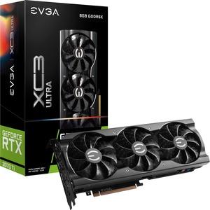 EVGA NVIDIA GeForce RTX 3070 Ti Graphic Card - 8 GB GDDR6X - 1.82 GHz Boost Clock - 256 bit Bus Width - PCI Express 4.0 - DisplayPort - HDMI XC3 ULTRA GAMING