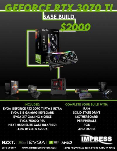 Bundle and Save! RTX 3070Ti H510i 5900X CPU 750W PSU Z15 K