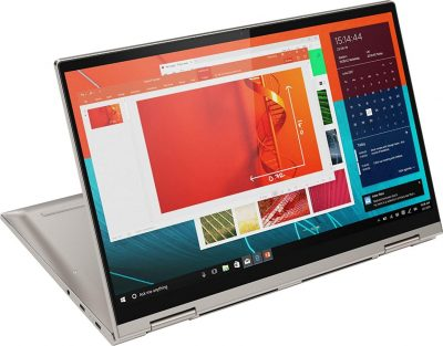 """Product description 14"""" Full HD 10-point multitouch screen: The 1920 x 1080 resolution boasts impressive color and clarity. Touch, tap, glide and make the most of Windows 10. IPS technology for wide viewing angles. Energy-efficient LED backlight.10th Gen Intel Core i5-10210U mobile processor: Ultra-low-voltage platform. Quad-core, eight-way processing provides maximum high-efficiency power to go.8GB system memory for advanced multitasking: Substantial high-bandwidth RAM to smoothly run your games and photo- and video-editing applications, as well as multiple programs and browser tabs all at once.256GB solid state drive (SSD): While offering less storage space than a hard drive, a flash-based SSD has no moving parts, resulting in faster start-up times and data access, no noise, and reduced heat production and power draw on the battery.360° flip-and-fold design: Offers four versatile modes — laptop, tablet, tent and stand. Lenovo Transition automatically switches specific applications to full screen when changing from PC to tablet, tent or stand position.Intel UHD Graphics: On-processor graphics with shared video memory provide everyday image quality for Internet use, basic photo editing and casual gaming.Weighs 3.09 lbs. and measures 0.7"""" thin Wireless-AC connectivity: Connect to a Wireless-AC router for nearly 3x the speed, more capacity and wider coverage than Wireless-N. Backward-compatible with all other Wi-Fi networks and hotspots.Built-in HD webcam with dual array microphone: Makes it easy to video chat with family and friends or teleconference with colleagues over Skype or other popular applications. Built-in fingerprint reader: Streamlines security settings for quick, typo-free access.Basic software package included: 30-days trial of Microsoft Office 2019. Product information Technical Details Collapse all Summary Standing screen display size 14 Inches Screen Resolution 1920x1080 Max Screen Resolution 1920 x 1080 Processor 1.6 GHz 1_2GHz_Cortex_A8 RAM 8 GB DD"""