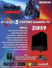 Custom Build Ryzen 5600x 16GB 500GB SSD RTX 3060 Win10Home