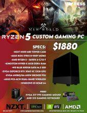 Custom Build Ryzen 5600x 16GB 500GB SSD RTX 3060XC 12GB Win10Home