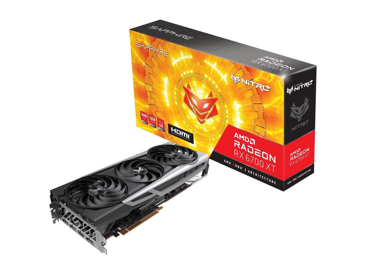 Sapphire Nitro+ AMD Radeon RX 6700 XT Gaming OC 12GB GDDR6 H
