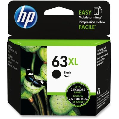 HP 63XL Black High Capacity Ink Cartridge OEM F6U64AN 480pg