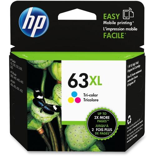 HP 63XL Color High Capacity Ink Cartridge OEM F6U63AN 330pg