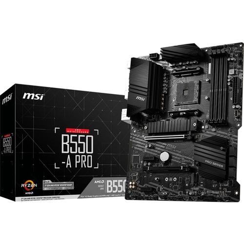 MSI B550-A Pro AMD Ryzen AM4 DDR4 HDMI DP DVI M.2
