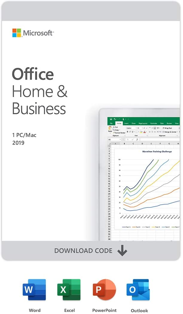 Microsoft Office Home & Business 2019   One-time purchase, 1 device   PC/Mac Download