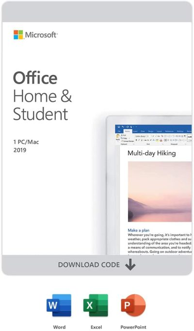 Microsoft Office Home & Student 2019 PC/Mac 1 Lic download