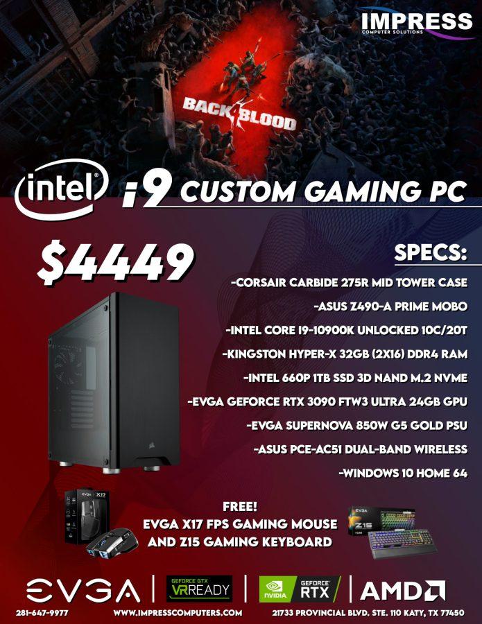 Custom Build Ryzen i9 32GB 1TSSD RTX 3090 WiFi W10H